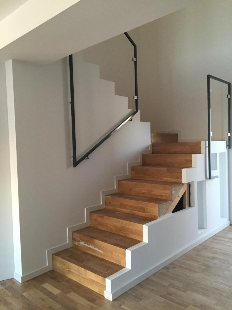 detalle escalera de madera