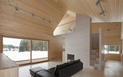 Vivienda sostenible de madera en Finlandia